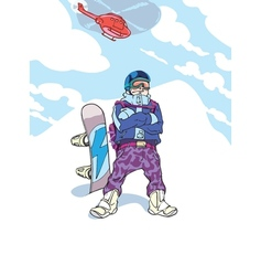 Happy Snowboarder vector image vector image