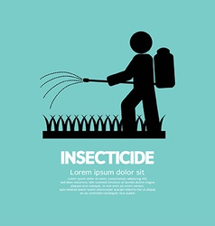 Human spraying insecticide vector