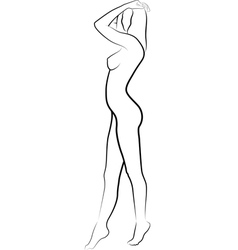 naked woman vector image vector image
