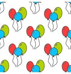 Seamless pattern with color balloons Festive vector image