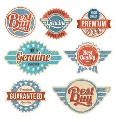 Vintage retro label banner design set vector image