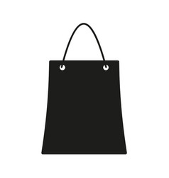 bag sign black icon on white vector image
