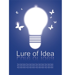 Lure of Idea vector image vector image