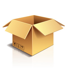 object cardboard box vector image