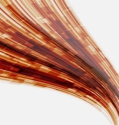 Orange wave element for design vector image vector image