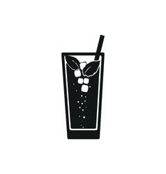 Simple black web icon Mojito vector image