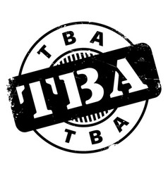 tba rubber stamp vector image vector image