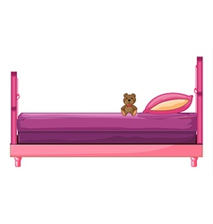 A pink bed vector image