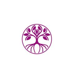 abstract tree plant environment logo vector image vector image