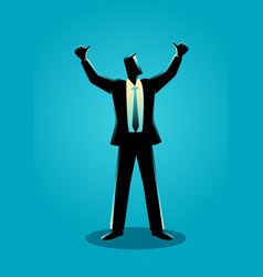 Businessman hands up vector