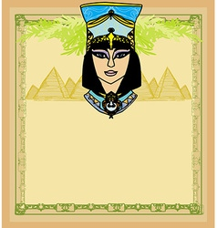 Egyptian queen Cleopatra frame vector image vector image