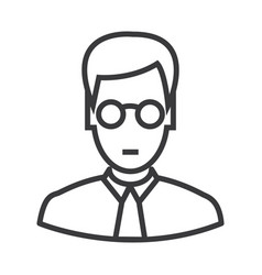 manager with glasses line icon sign vector image vector image