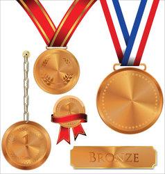 bronze medal vector image