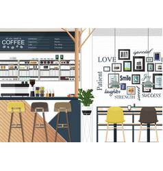 Coffee shop interiors vector