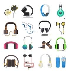Headphones set vector image