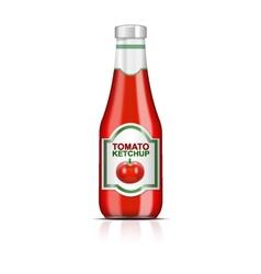 Ketchup bottle vector