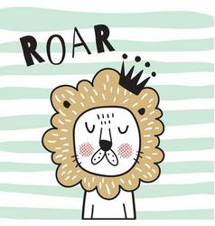 roar lion vector image