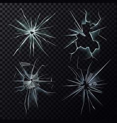 smashed or broke window screen or glass cracks vector image