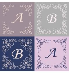 trendy mono line style - design element vector image