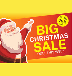 with happy santa claus vector image vector image