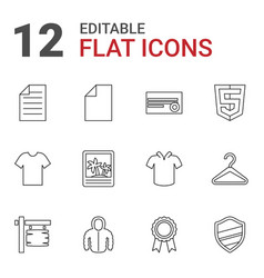 12 blank icons vector image