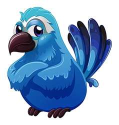 A big blue bird vector