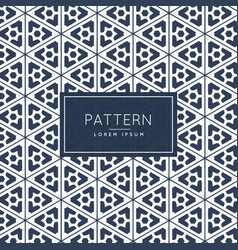 Abstract geometric pattern background design vector