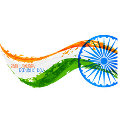Abstract indian republic day flag banner design vector