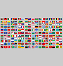 All countries national flags vector