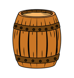 barrel isolated icon vector image