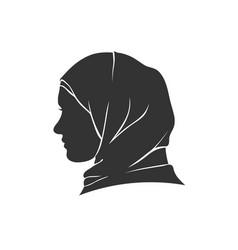 Beautiful muslim woman in hijab vector