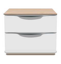 Bedroom nightstand icon realistic style vector