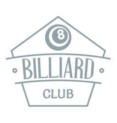 billiard logo simple gray style vector image