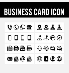 Business card icon contact symbol image vector