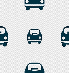 Car icon sign Seamless pattern with geometric vector