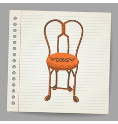 Chair Doodle style vector