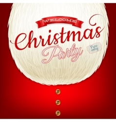 Christmas party poster with beard EPS 10 vector image