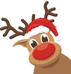 Christmas reindeer - rudolph deer vector image
