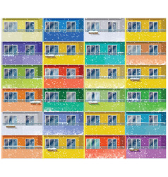 Colored apartments in winter vector