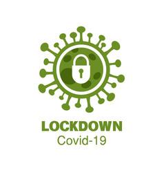 corona virus covid-19 lock down vector image
