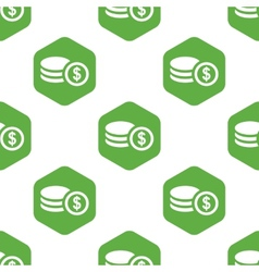 Dollar rouleau pattern vector