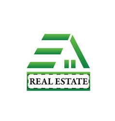 environmental friendly house real estate icon vector image