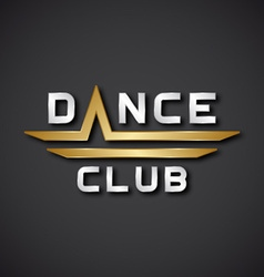 EPS10 dance club text icon vector