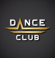 Eps10 dance club text icon vector