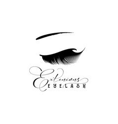 eyelash extension banner template for makeup and vector image