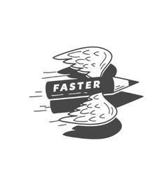 Faster flying pensil vector