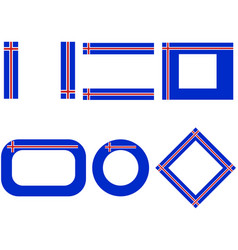 Flags iceland with copy space vector