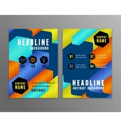 Flyer with abstract colorful arrows geometric vector