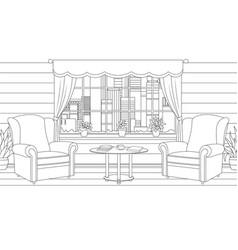 furniture interior design vector image