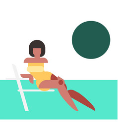 geometry woman figure vector image